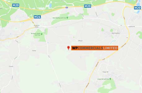Map to WP Commercials vehicle hire