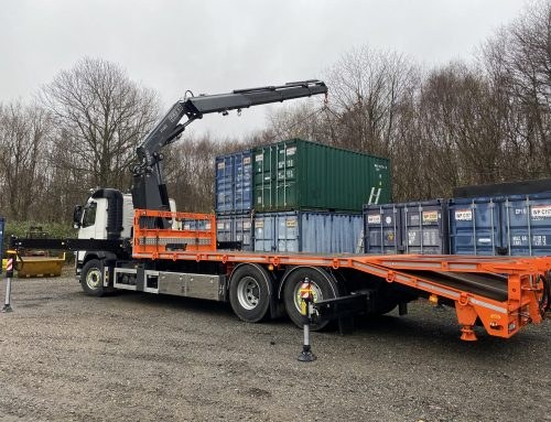 New Volvo Beavertail lorry with a Fassi 48 tonne metre crane